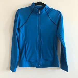 Nike blue and black piping running workout jacket